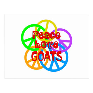 Peace Love Goats Postcard