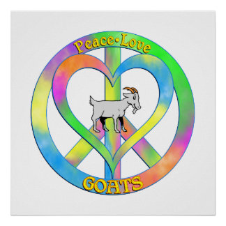Peace Love Goats Poster