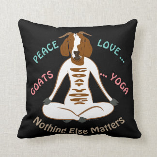 PEACE LOVE GOATS YOGA | GetYerGoat™ Throw Pillow