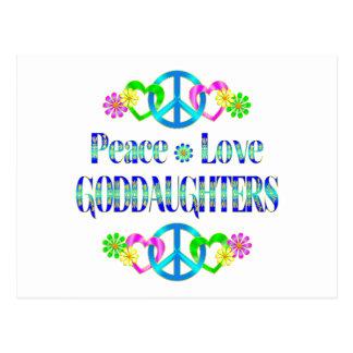 Peace Love Goddaughters Postcard