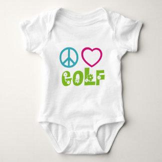 Peace Love Golf Baby Bodysuit