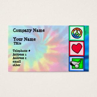 Peace, Love, Golf Business Card