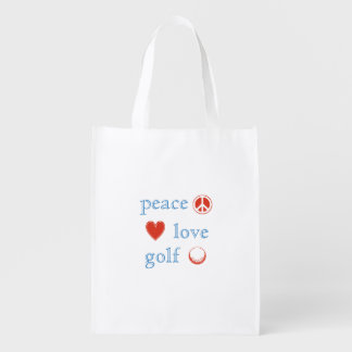 Peace Love Golf Grocery Bags