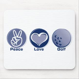 Peace Love Golf Mouse Pad