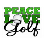 Peace, Love & Golf Post Cards
