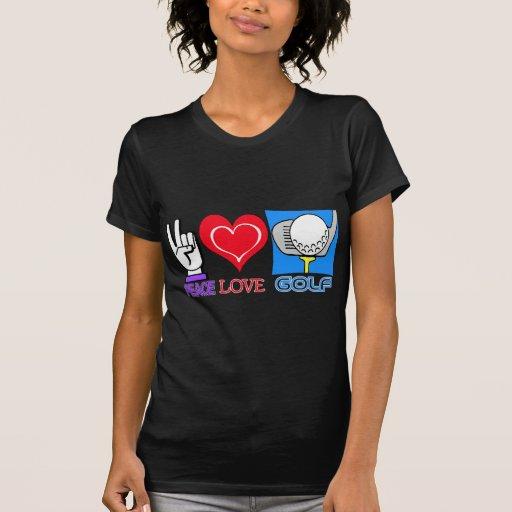 PEACE LOVE GOLF SHIRT