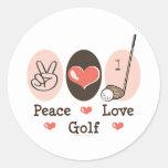 Peace Love Golf Sticker