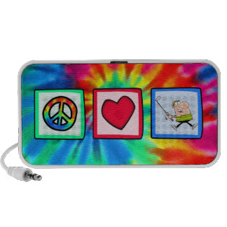 Peace, Love, Golfer Notebook Speakers