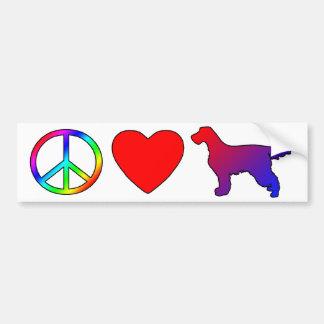 Peace Love Gordon Setters Bumper Sticker