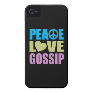 Peace Love Gossip iPhone 4 Cover