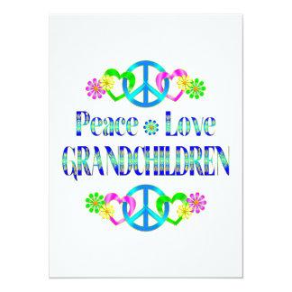Peace Love Grandchildren 5.5x7.5 Paper Invitation Card