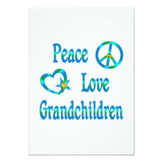 Peace Love Grandchildren 5x7 Paper Invitation Card