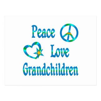 Peace Love Grandchildren Postcards
