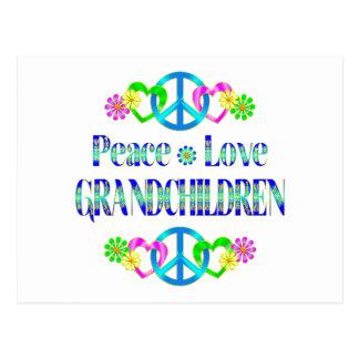 Peace Love Grandchildren Post Cards