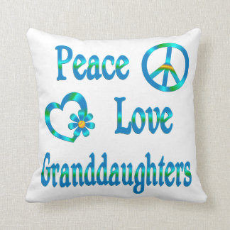 Peace Love Granddaughters Throw Pillow