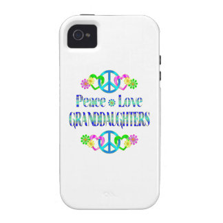 Peace Love Granddaughters Vibe iPhone 4 Covers