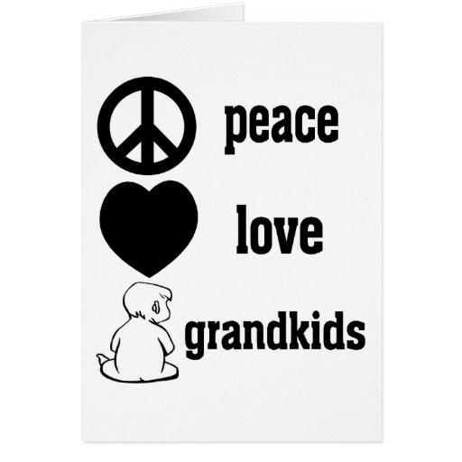 Peace Love & Grandkids Card