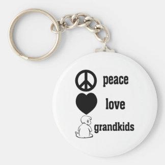 Peace Love Grandkids Key Chains