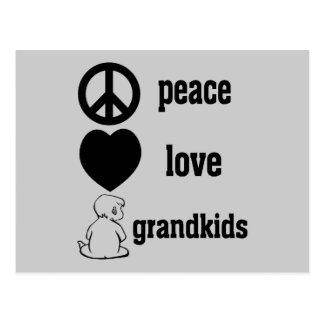 Peace Love & Grandkids Postcard