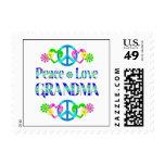 Peace Love Grandma Stamp