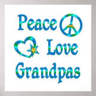 Peace Love Grandpas Print
