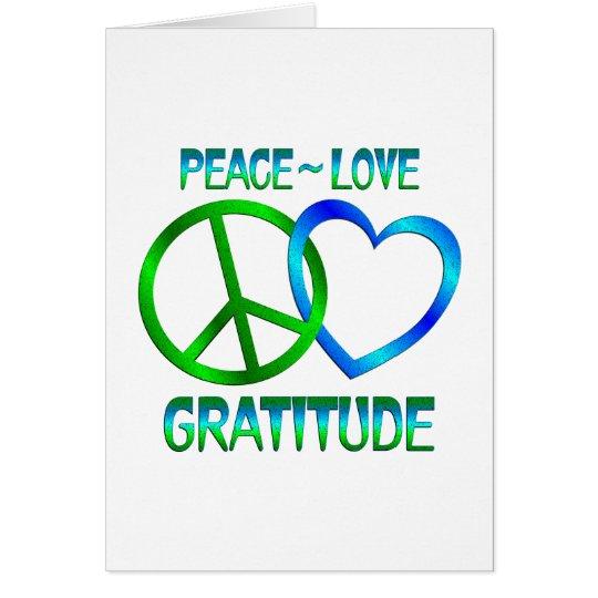 Peace Love GRATITUDE Card