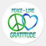 Peace Love GRATITUDE Sticker