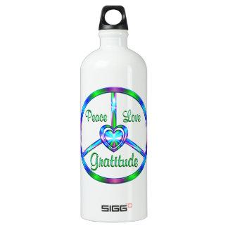 Peace Love Gratitude Water Bottle