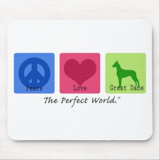 Peace Love Great Dane Mouse Mat