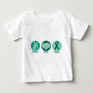 Peace Love Green Hope Baby T-Shirt