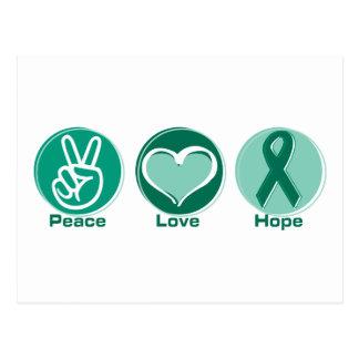 Peace Love Green Hope Postcard