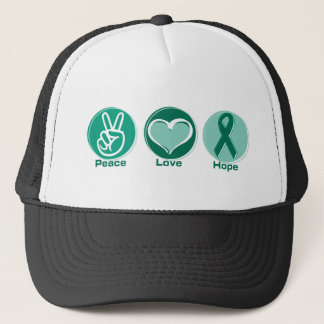 Peace Love Green Hope Trucker Hat