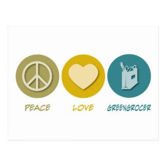 Peace Love Greengrocer Postcard
