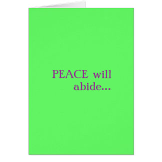 Peace...Love Greeting Card
