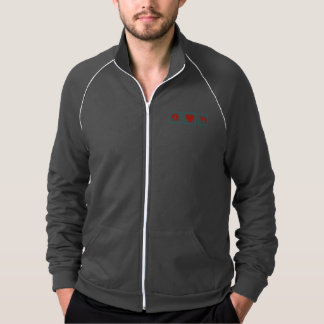 Peace Love Greyhounds Squares Jacket