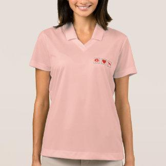 Peace Love Greyhounds Squares Polo Shirt