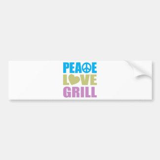 Peace Love Grill Bumper Stickers