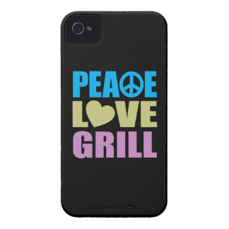 Peace Love Grill iPhone 4 Cover