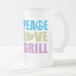 Peace Love Grill Coffee Mug