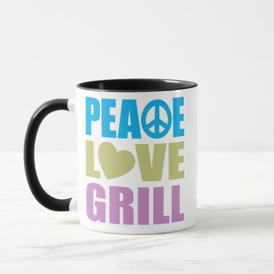 Peace Love Grill Mug
