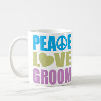 Peace Love Groom Coffee Mug