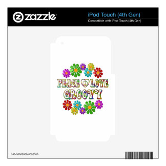 Peace Love Groovy Decal For iPod Touch 4G