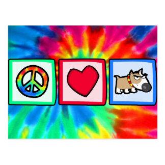 Peace, Love, Grumpy Dog Postcard
