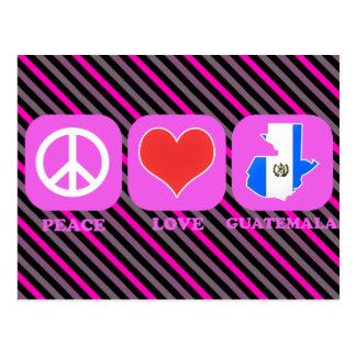 Peace Love Guatemala Postcard