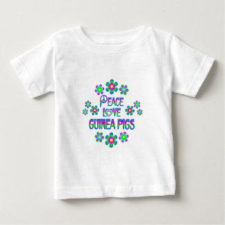Peace Love Guinea Pigs Baby T-Shirt