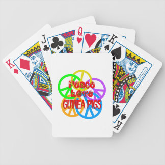Peace Love Guinea Pigs Bicycle Playing Cards