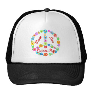 Peace Love Guinea Pigs Hats
