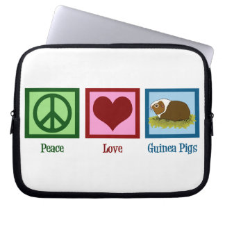 Peace Love Guinea Pigs Laptop Computer Sleeves