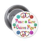 PEACE LOVE GUINEA PIGS PINBACK BUTTON
