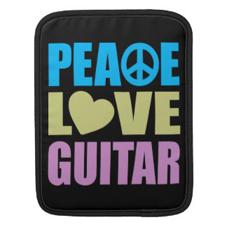 Peace Love Guitar Sleeves For iPads